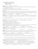 Đề thi môn vật lý ( đề 1 ) Trường THPT Lương Thế Vinh pptx