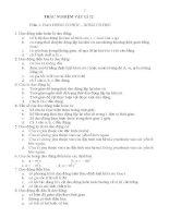 TRẮC NGHIỆM VẬT LÍ 12 Phần 1: DAO ĐỘNG CƠ HỌC – SÓNG CƠ HỌC pps