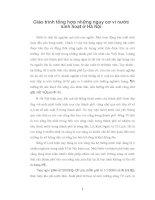 Giáo trình tổng hợp những nguy cơ vì nước sinh hoạt ở Hà Nội phần 1 pdf