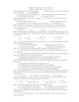 KIỂM TRA 45 PHÚT _ MÔN VAT LÍ 12 PHẦN : DÒNG ĐIỆN XOAY CHIỀU docx