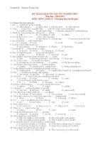 ĐỀ THAM KHẢO ÔN THI TỐT NGHIỆP THPT Năm học : 2010-2011 MÔN TIẾNG ANH 12 pptx