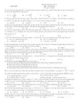 ĐỀ THI THÁNG LẦN 3 Môn : Vật lí lớp 12 - Mã đề: 003 docx