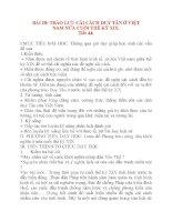 Giáo án Lịch Sử lớp 8: BÀI 28: TRÀO LƯU CẢI CÁCH DUY TÂN Ở VIỆT NAM NỬA CUỐI THẾ KỶ XIX. docx