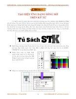 Giáo trình phân tích quy trình ứng dụng cấu tạo graphic movie để tạo chuyển động bằng key sence p7 pot