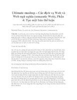Ultimate mashup – Các dịch vụ Web và Web ngữ nghĩa (semantic Web), Phần 4 pot