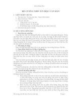 ĐỀ CƯƠNG MÔN TIN HỌC CĂN BẢN pdf