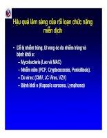 Bài giảng điều trị HIV : Hội chứng phục hồi miễn dịch part 2 pot