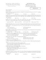 ĐỀ THI KIỂM TRA MÔN VẬT LÝ 11 CƠ BẢN - Mã đề thi 132 docx