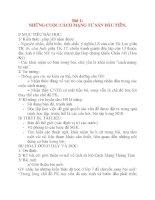Giáo án Lịch Sử lớp 8: Bài 1: NHỮNG CUỘC CÁCH MẠNG TƯ SẢN ĐẦU TIÊN. ppt