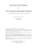 The 10 Keys to Successful Trading phần 1 potx