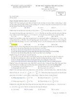 ĐỀ THI TRẮC NGHIỆM THI THỬ ĐẠI HỌC MÔN : VẬT LÍ - Mã đề thi 134 ppsx