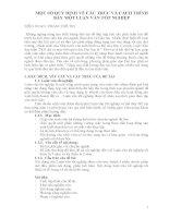 một số quy định về cấu trúc và cách trình bày một luận văn tốt nghiệp