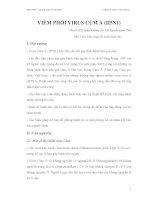 Bài giảng VIÊM PHỔI VIRUS CÚM A (H5N1) part 1 ppt