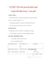 Giáo án môn Toán lớp 7 : Tên bài dạy : LUYỆN TẬP mối quan hệ giữa cạnh và góc đối diện trong 1 tam giác ppsx