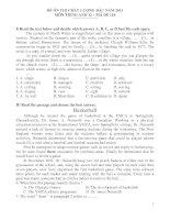 ĐỀ ÔN THI CHẤT LƯỢNG ĐẦU NĂM 2011 MÔN TIẾNG ANH 12 – MÃ ĐỀ 114 pptx