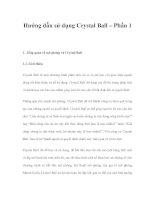 Hướng dẫn sử dụng Crystal Ball – Phần 1 potx