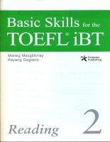 basic skills toef ibt reading 2