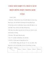Giáo án Vật lý lớp 7 : Tên bài dạy : CHẤT DẪN ĐIỆN VÀ CHẤT CÁCH ĐIỆN-DÒNG ĐIỆN TRONG KIM LOẠI. docx