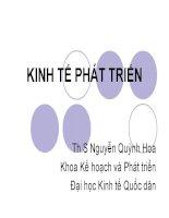 CHƯƠNG I TỔNG QUAN VỀ TĂNG TRƯỞNG VÀ PHÁT TRIỂN KINH TẾ pps