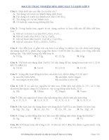 366 câu hỏi trắc nghiệm hóa học  hay và khó lớp 9
