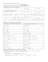 Lý thuyết ôn tập toán 12