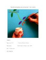 Sáng kiến kinh nghiệm môn mỹ thuật lớp 3 – bài vẽ cành lá pps
