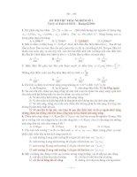 ĐỀ THI THỬ TRẮC NGHIỆM SỐ 1 Vật lý và Tuổi trẻ Số 54 pptx
