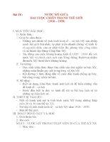 Giáo án Lịch Sử 8: Bài 18 :NƯỚC MỸ GIỮA HAI CUỘC CHIẾN TRANH THẾ GIỚI (1918 – 1939) ppsx