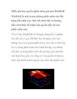 Miễn phí bản quyền phần mềm giải nén WinRAR pdf