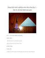 Sáng kiến kinh nghiệm môn thủ công lớp 1 – bài 21 cắt dán hình tam giác doc