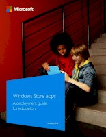 windows store apps - a deployment guide for education