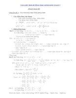 Tài liệu bồi dưỡng học sinh giỏi toán lớp 7