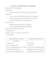 Giáo án Hóa Học lớp 12: CẤU TRÚC VÀ TÍNH CHẤT CỦA POLIME potx