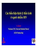 Bài giảng điều trị HIV : Các biểu hiện bệnh lý thần kinh ở người nhiễm HIV part 1 pdf