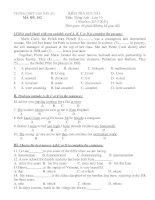 KIỂM TRA HỌC KÌ I Môn: Tiếng Anh - Lớp 10 ( Năm học 2010-2011) MÃ ĐỀ: 102 pot