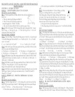 BÀI ÔN TẬP SỐ 1 - CHƯƠNG I: CƠ HỌC VẬT RẮN ppt