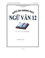 Giáo án giảng dạy ngữ văn 12