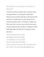 Thủ thuật để tải các file update về từ website của Microsoft? ppt