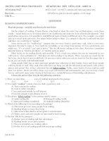 ĐỀ KIỂM TRA MÔN TIẾNG ANH – KHỐI 12 THỜI GIAN : 45 PHÚT ppsx
