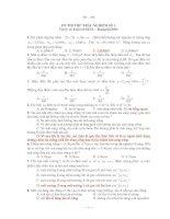 ĐỀ THI THỬ TRẮC NGHIỆM SỐ 1 Vật lý và Tuổi trẻ Số 54 pot