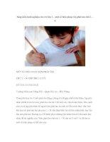 Sáng kiến kinh nghiệm cho trẻ lớp 1 – một số biện pháp rèn phát âm chữ L – N pptx