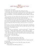 Giáo án Lịch Sử 8: Bài 13: CHIẾN TRANH THẾ GIỚI THỨ NHẤT (1914 –1918) pps