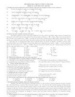 ĐỀ KIỂM TRA CHẤT LƯỢNG CUỐI NĂM KHỐI 12- NĂM HỌC 2011- ĐỀ 014 doc