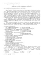 Mock test for final examination of grade 12 docx