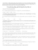 các phương pháp giải bài tập hóa học hữu cơ