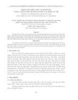 KHẢO SÁT, ĐIỀU TRA VÀ ĐÁNH GIÁ CHẤT LƯỢNG MÔI TRƯỜNG NƯỚC CỦA SÔNG CU ĐÊ ppt