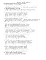 Bài tập về câu bị động