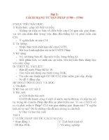 Giáo án Lịch Sử lớp 8: Bài 2: CÁCH MẠNG TƯ SẢN PHÁP (1789 – 1794) docx