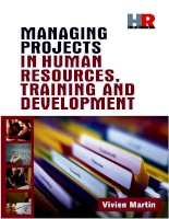 MANAGING PROJECTS IN HUMAN RESOURCES, TRAINING AND DEVELOPMENT PHẦN 1 potx