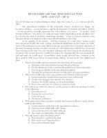 ĐỀ THI CHỌN LỌC HỌC SINH GIỎI CẤP TỈNH MƠN: ANH VĂN – ĐỀ 10 ppsx